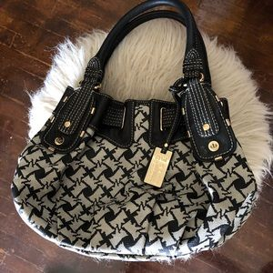 Juicy Couture leather patterned handbag